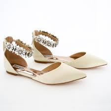 wedding shoes flats badgley mischka wedding flats morgen ivory flat bridal shoes