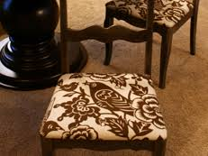 How To Cover A Dining Room Chair How To Re Cover An Upholstered Chair Hgtv