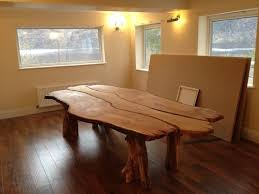 rustic oak kitchen table hand made bespoke solid waney edge rustic oak kitchen dining room