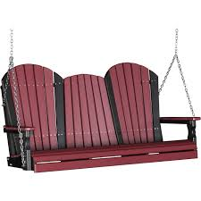 luxcraft adirondack 5ft recycled plastic porch swing u2013 the porch