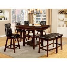 Furniture Of America Rathbun Modern  Piece Counter Height Dining - Counter height dining table swivel chairs