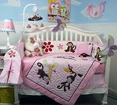 Soho Crib Bedding Set Soho Melanie The Monkey Baby Crib Nursery Bedding Set