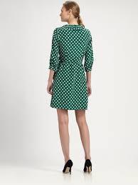 kate spade new york daniella wrap dress in green lyst