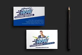 cleaning service business card template for photoshop u0026 illustrator