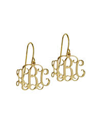 monogrammed earrings buy monogram earrings gold studs online monogram silver earrings