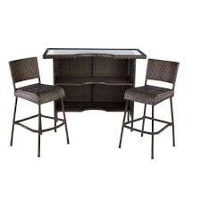 Bar Set Patio Furniture Patio Bar Sets Outdoor Bar Furniture The Home Depot