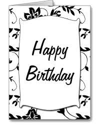 card invitation design ideas black and white birthday cards