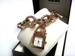 anne klein charm bracelet watches images Anne klein watch 1174rgch handbag mop rose gold chain charm jpg