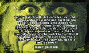 and the grinch with his grinch cold in the snow stood