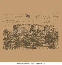 ankara castle ankara capital city turkey stock vector 347262002