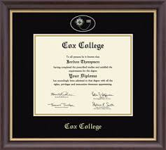 diploma framing cox college pin edition diploma frame in hshire item 223478