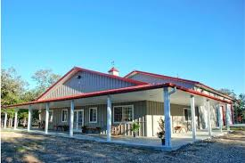 Metal Barn Homes In Texas Impressive Metal Barndominium Home W Abundant Storage 24 Hq
