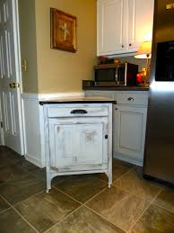 Distressed Kitchen Furniture Cabinets Drawer Close Up Look Of Distressed Kitchen Beige Honey