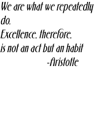 learning quotes by aristotle we are what we repeatedly do excellence therefore is not an act
