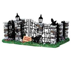 lemax spooky town lemax spooky town spooky iron gate and fence set of 5