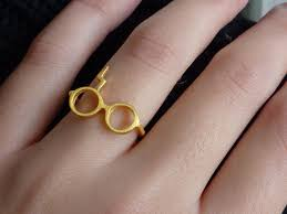 Harry Potter Wedding Rings by Gold 14k Harry Potter Ring Geek Fashion Wedding Ringscollection