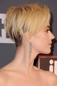 cropped hairstyles with wisps in the nape of the neck for women katy perry reveals the real reason she cut her hair blonde pixie