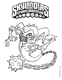 ghost roaster coloring page in skylanders spyro u0027s adventure