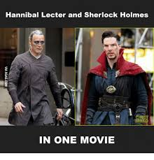 Hannibal Meme - hannibal lecter and sherlock holmes in one movie hannibal lecter