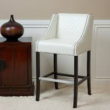 bar stools high modern white bar stools leather with bamboo