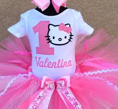 pretty in pink hello personalized 1st birthday tutu