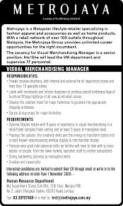 Visual Merchandising Resume Sample by Sample Resume Merchandiser
