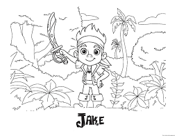 jake neverland pirates coloring pages getcoloringpages