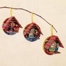 wood ornaments elephant set of 5 shop from