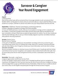 Thanksgiving Relay Year Survivor And Caregiver Engagement Cus Relay For