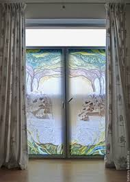 buy roller blinds with hand painted sleeping lions on livemaster