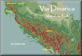 Italy Mountains Map by Via Dinarica Map Of The Trail Photos Diagrams U0026 Topos