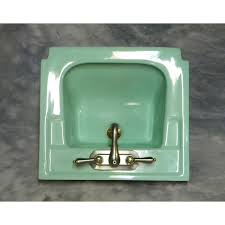 vintage wall hung sink green wall hung sink