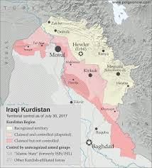 baghdad on a map referendum 2017 iraqi kurdistan map political geography now