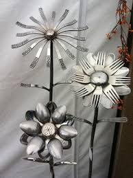 diy welded silverware garden flowers diy cozy home
