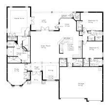 open floor plan single story homes
