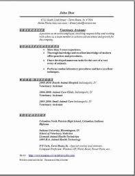 Vet Tech Resume Sles veterinary technician resume exles exles of resumes
