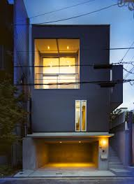 Small Narrow House Plans Smart Small Space Design House In Konan By Coo Planning