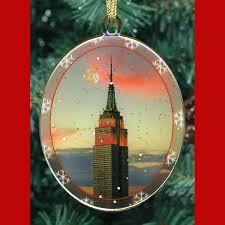 new york city landmarks ornaments gift set ny