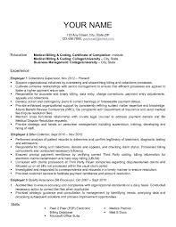 Examples Of Medical Resumes Resume Billing Resume For Your Job Application