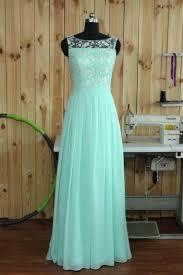 mint lace bridesmaid dresses 2016 mint lace chiffon bridesmaid dress boat neck wedding