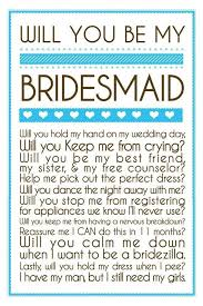 will you be my bridesmaid poem will you be my bridesmaid onesimplegown