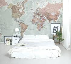 mesmerizing wall paper for bedroom good looking world map