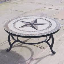 beacon star tiled coffee table integral fire pit bbq grill