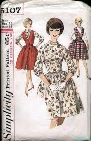 5107 vintage 1960s jumper dress pattern b32