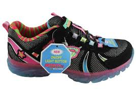skechers light up shoes on off switch skechers kids girls s lights glitzies spark upz sneakers shoes