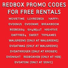 here u0027s some free redbox codes to unlock free dvd u0026 video game