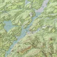 Lake Placid New York Map by Ny Route 30 The Adirondack Trail Long Lake Topographic Map