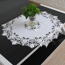 Embroidered Home Decor Fabric Popular White Fabric Tablecloth Buy Cheap White Fabric Tablecloth