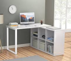 L Shaped Computer Desk With Storage Latitude Run Britni Modern Corner L Shape Computer Desk With 6
