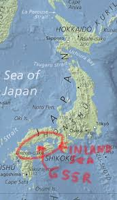 Sea Of Japan Map Seto Inland Sea Map Excellencetell